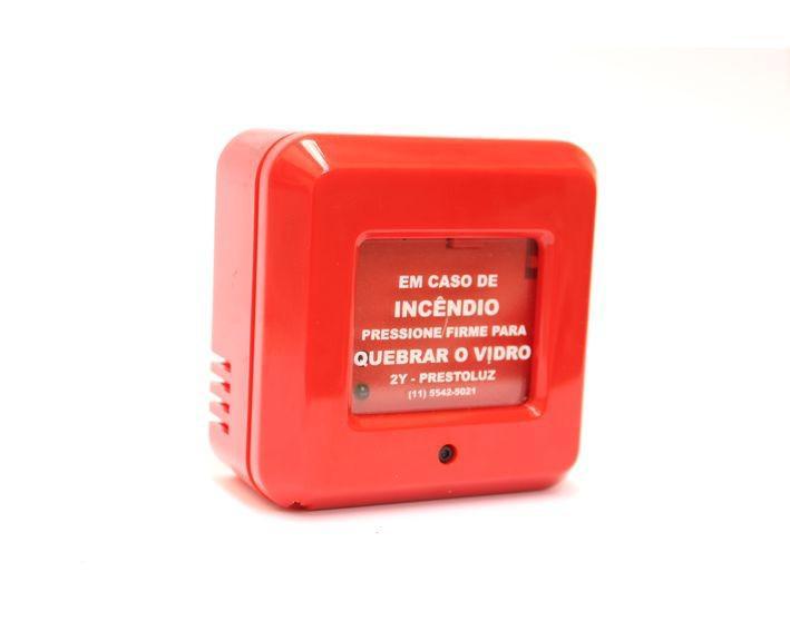 Acionador manual de alarme endereçavel